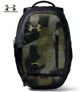 Under Armour UA Hustle 4.0 Backpack Khaki Green Camo Bag Laptop School 1342651 $52.97