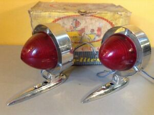 New! Vintage PAIR YANKEE PACESETTER TWIN LITES AUXILIARY Bullet Red STOP