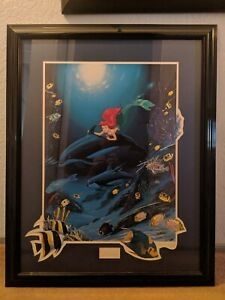 Walt Disney Wyland Ariel's Dolphin Ride Signed and framed Lithograph 368950