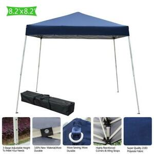 Blue 10'x10' Pop Up Canopy Party Tent Outdoor Patio Shelter Wedding Gazebo