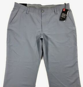 Under Armour UA Golf Match Play Pants Mens Straight Fit Steel Gray