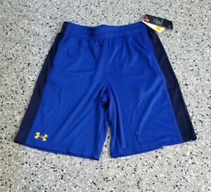 New Under Armour Youth Boys Athletic Royal Black Shorts Pants Size: X Large $23.99