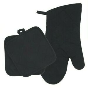 Home Collections - Kitchen Linens - Black - Oven Mitt - Pot Holders