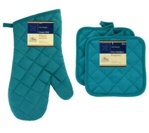 Home Collections - Kitchen Linens - Turquoise - Oven Mitt - Pot Holders