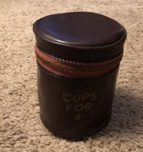 Vintage Stacking Traveling Cups For 4 Nesting Cup Zipper Bag