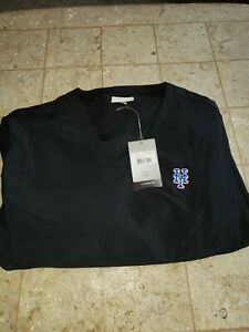 NEW YORK METS XL EXTRA LARGE CUTTER AND & BUCK METS GOLF PULLOVER WINDBREAKER MR