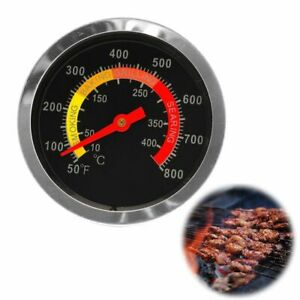 Stainless Steel Grill Thermometer BBQ Temperature Gauge Tool For Pit Smoker Tool