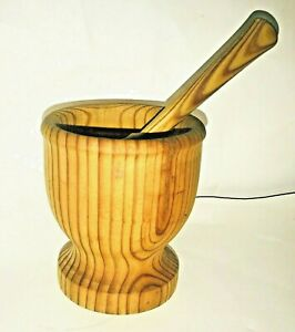 Wooden Mortar and Pestle Handmade One Owner Made by Craftsman