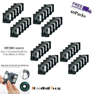 40 PK 45013 S0720530 Label Tape Compatible for DYMO D1 LabelManager 12mm