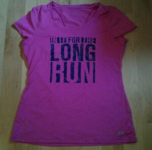 Women's Under Armour athletic running shirt pink size Small $14.99