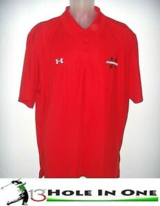 Under Armour Men's Golf Shirt Short Sleeve Size XL Red Nice Polyester NWT $19.99