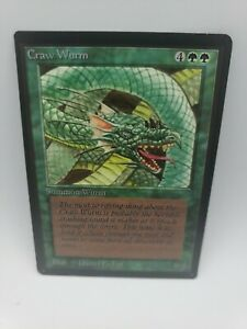 Magic the Gathering: Craw Wurm x1 Beta Edition LP MTG Slightly Played