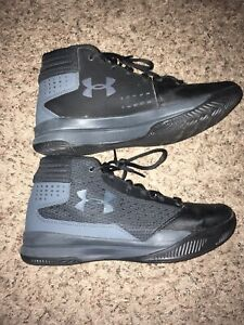 Women's Under Armour Basketball Sneakers Tennis Shoes High Tops Black Size 7 New