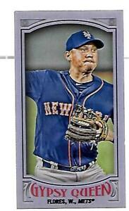 WILMER FLORES METS #72 250 2016 TOPPS GYPSY QUEEN MINI PURPLE NICE CARD $2.99