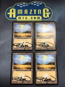 4x GURU PLAINS - Signed Terese Nielsen Autograph Magic  MTG Promo Land