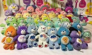 "Care Bear Lot of 48 Bears Bean Bags 8"" & 9"" Cousins Beanies"