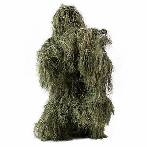 HaoFst Medium Size Ghillie Suit Camo Woodland Camouflage Forest Hunting 4-Piece