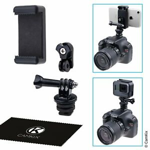 Hot Shoe Mount Adapter Kit - Attach Your Phone or GoPro Hero to The Flash Mou...