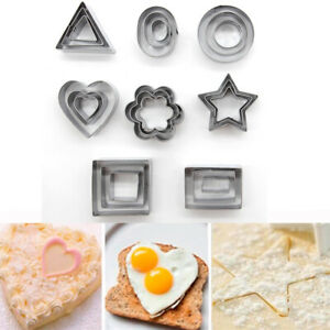 Cake Mold Pastry Cookies Cutter Biscuit Slicer Star Flower Shape Heart Shape