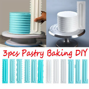Cake Decorating Comb Icing Smoother Cake Scraper Pastry Designs Baking Tool