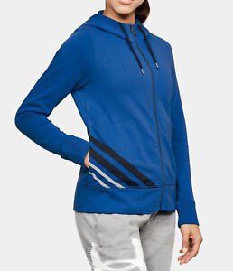 New Under Armour Full Zip Hoodie 1316115 Blue Cotton Women's SM  MD  LG   $60