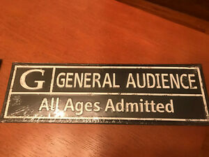 13x4 METAL G MOVIE CINEMA RATING THEATER SIGN WALL ART General Audience All ages