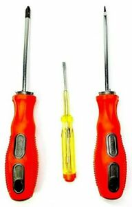 3pc Screwdriver Set 1Phillips,1 Flat and 1 Electric Tester 100-500  New