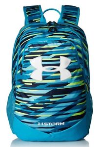 Under Armour Boy's Storm Scrimmage Backpack, Blue White, Camp Travel School Bag $48.97