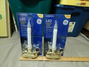 General Electric LED {LOT of 2} Flickering Window Candles 2007 Xmas NEW Ltd