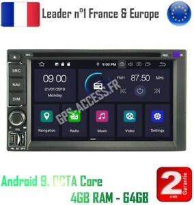 Head Unit IPS GPS Android 9.0 Octa Core 64Gb+4Gb Ram Double Din 2 Din Universe