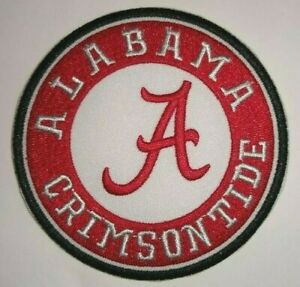 Alabama Crimson Tide Embroidered PATCH 3 1 2quot; Round Iron Sew On FREE Shipping
