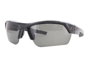 NEW Under Armour Sunglasses Igniter 2.0 Shiny Black  Gray Lenses 8600051-000100