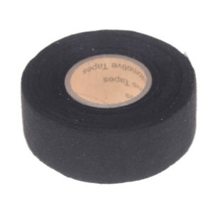 Black 32mm*12m Adhesive Cloth Fabric Tape Cable Looms Wiring Harness HVGGNIUS