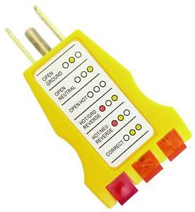 Electrical GFI GFCI Receptacle Tester AC Outlet Plug 3 Prong Plug Wire Finder