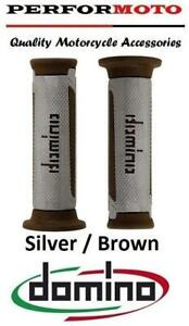 Domino A350 Grips SilverBrown To Fit Honda CB1100