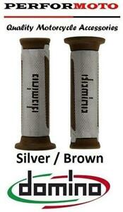 Domino A350 Grips SilverBrown To Fit Suzuki GN125