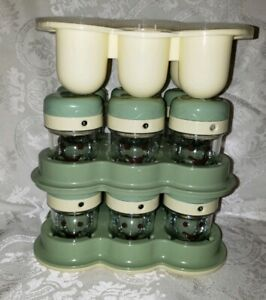 Baby Bullet Date Dial 12 Storage Cups with Lids and Freezing Tray Lot EUC