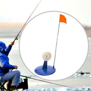 Blue Ice Fishing Rod Tip-Up Ice compact Orange Flag tackle from china ES