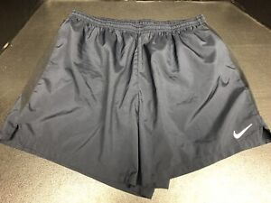 Nike Dri-Fit Men's Lined Running Shorts Navy Blue And Black Size XXL