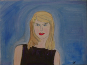 Original Taylor Swift Portrait Signed By Artist - Expressionism