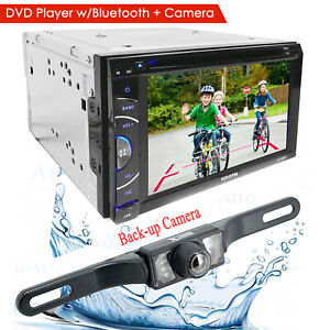 6.2 DIN TOUCHSCREEN CAR STEREO DVD BLUETOOTH STEREO MP5 MP3 Player Rear Cam $114.99