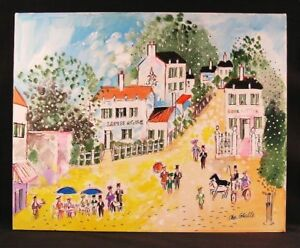 Fine Original Oil Painting by Charles Cobelle Lapin Agile Unframed