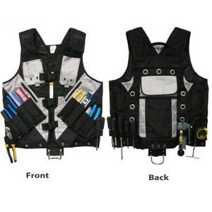 Electrician Carpenter Framer Plumber Craftman Construction Pouch Bags Tool Vest