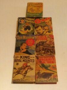 Lot Of 7 Vintage Antique 1940's Little Books