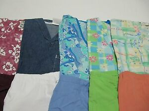 WOMANS LOT OF SCRUB SETS 5 TOPS 5 PANTS VERY NICE    SIZE S  (BOX 64)