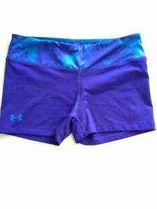 Under Armour Heat Gear Girls Youth Medium Fitted Stretch Athletic Shorts