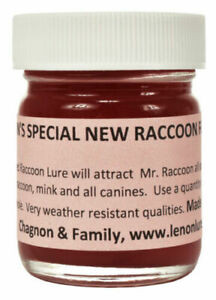 Lenon#x27;s Special New Red Raccoon Lure Formula #2 1 oz