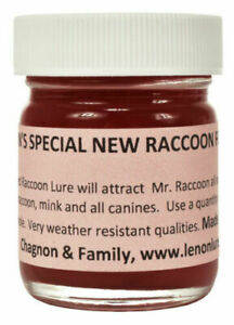 Lenon#x27;s Special New Red Raccoon Lure Formula #2 4 oz