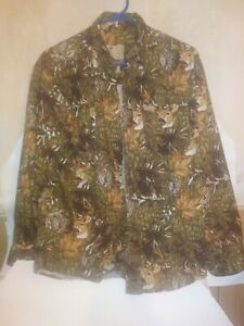 Outdoor Life Camouflage Shirts Med. Button front
