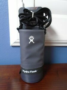 HYDRO FLASK Tag Along Gray Bottle Sling Sleeve Fits 32 oz & 40 oz NEW